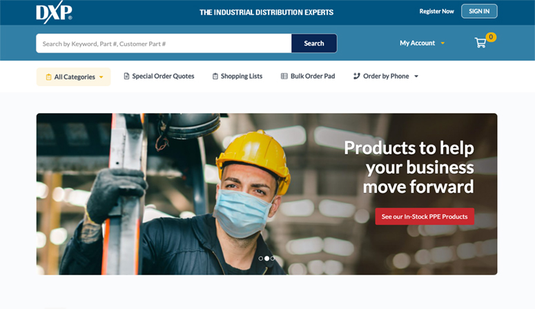 DXP E-Commerce Solutions Example